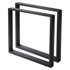 2PCS Metal Legs Table Bench Steel Leg Industrial Furniture Frame W/ Accessories