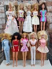 Lot of 10 Barbie Dolls 70's 80's 90's 00's