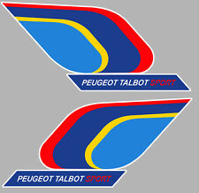 2 X PEUGEOT TALBOT 205 SPORT GTI 10cm AUTOCOLLANT STICKER AUTO PA376