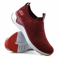 Womens Skechers Memory Foam Slip On Walking Running Sports Trainers Shoes Size