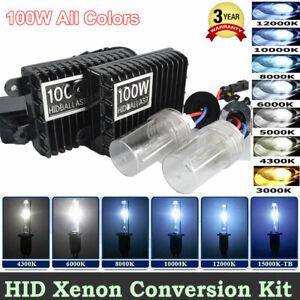 75/100W Car HID Xenon Headlight Bulb Ballast Kit H1 H3 H4 H7 H8 H9 H11 9005 9006