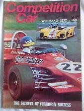 Competition Car magazine No 3 1972 Reliant Scimitar GTE, Brian Redman