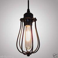 Vintage Retro LOFT Black Metal Shade Ceiling Chandelier Bar Pendant Lamp Light