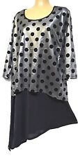 TS top TAKING SHAPE plus sz XL / 24 Lady Luck Tunic glam layered-look NWT rp$130