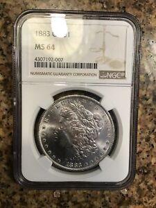 1883-O Morgan Silver Dollar NGC MS 64 #4307192-007