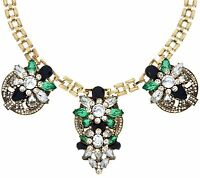 "SUSAN GRAVER GOLDTONE 18"" STATEMENT NECKLACE QVC"