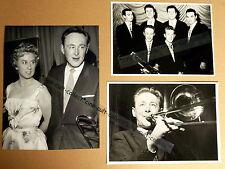 CHRIS BARBER * 3 PRESSEFOTOS - PHOTOS  STILLS VINTAGE JAZZ Musik 1950er