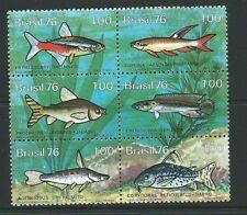 Mint Never Hinged/MNH Fish Brazilian Stamps