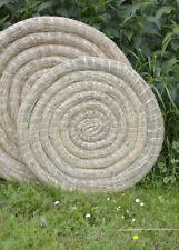 Traditionelle Strohscheibe, rund, 80 cm Durchmesser, Bogenschießen Zielscheibe