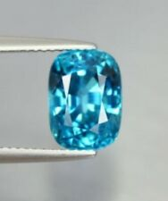 BLUE ZIRCON 8 x 6 MM CUSHION CUT ALL NATURAL BEAUTIFUL BLUE COLOR AAA