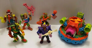 Vintage 1990's Toxic Crusaders Lot Of 6 Toxie Junkyard Hideous Hovercraft & More