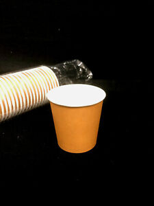 BULK 200 Disposal Paper cup Cups 4 Oz Coffee Cup Party Occasions Brand New