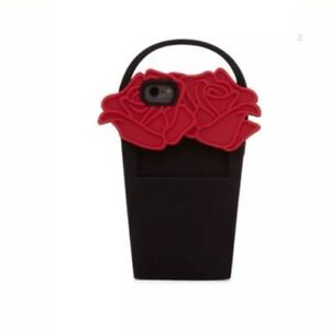 "LuLu Guinness Iphone 6/7 case ""Red Rose Basket"" BNIB  RRP  £36"