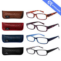 Reading Glasses Readers Thin Elegant Women Beautiful Pattern Style 4 Pairs/Pack