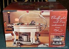 Tramontina Gourmet Collection 4.2 Qt Oval Chafing Dish Stainless Steel With Box!