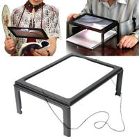 Old Man Reading A4 Full Page Large Hands Free Magnifier Magnifying Glass Lens
