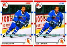 2x SCORE 1990 GUY LaFLEUR NHL QUEBEC NORDIQUES RARE USA & CANADIAN MINT #290 LOT