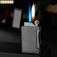 Windproof Lighter Two Flames Metal Lighter Cigar Cigarette Lighters Gas Lighter