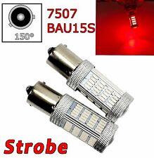 Strobe 2pcs Red Rear Turn Signal Light BAU15S 7507 PY21W 92 LED Bulb Lamp A1 LAX