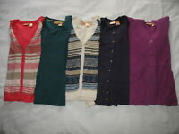 LOT of 5 NORTHCREST SWEATERS Sz L Large 14 16 Cardigan Cable Knit Hooded Womens