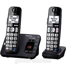 Panasonic Kx-Tge232B 2 Cordless Handsets Digital Caller Id Office Phone Black