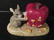 Charming Tails Silvestri Candy Apples Mouse Apple & Candy Corn Jack-O-Lantern