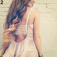 COOL CHIC BRALETTE CAGED BACK CUT OUT STRAPPY PADDED BRA BRALET VEST CROP TOP