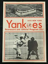 1970 NEW YORK YANKEES VS MILWAUKEE BREWERS BASEBALL PROGRAM/SCORE CARD SCORED