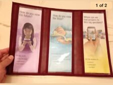 TRI FOLD TRACT HOLDER, YOUR CHOICE OF COLOR, Jehovah's Witness