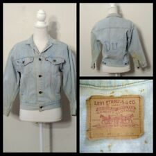 Levi's Denim Jacket Youth 12/14 Chest 36 Light Wash Killer Fade Grungy Inv#S9611