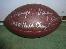 VINCE DOOLEY GEORGIA BULLDOGS SIGNED NCAA WILSON FOOTBALL W/COA