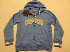 M72 New MITCHELL & NESS San Diego Chargers Hooded Sweatshirt Jacket MEN'S XL
