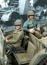 Escala 1/35 la Segunda Guerra Mundial Soldados x2 sentado en un vehículo NO.1 - SOLDATS x2 Assis dans un