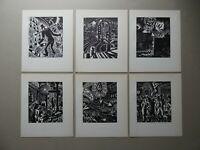 Frans MASEREEL (1889-1972) - 6 Holzschnitte über Hamburg