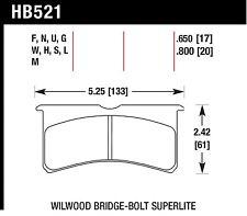 Hawk Performance HB521U.650 Unbeatable Pad And Rotor Wear Disc Brake Pads