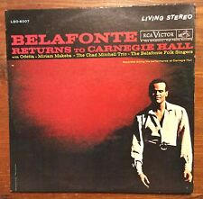Harry Belafonte on RCA Victor LSO-6007: Belafonte Returns to Carnegie Hall