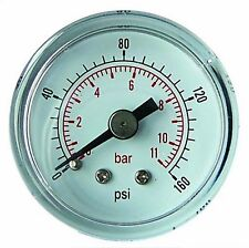 "50mm Pressure Gauge 1/4"" BSP BACK ENTRY 0-200 PSI 14 Bar AIR OIL DRY GC5014/04"