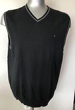 Tommy Hilfiger Black Men Vests Size Large