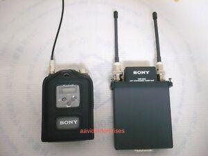 Sony WRR-855S UHF receiver + WRT-8B beltpak transmitter, CH42/45
