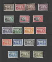 ST. HELENA 1938-44 KGVI  SET OF 18 (SG153-165)  MINT