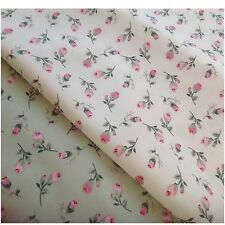 Tilida Rose 100% Cotton fabric, Sewing, Craft, quilting, CREAM & GREEN