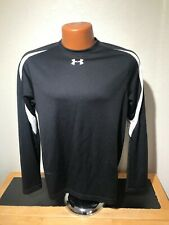 Mens Under Armour Heat Gear L/S Athletic T-Shirt Small (S) Black - Polyester