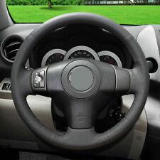 DIY Black Genuine Leather Car Steering Wheel Cover for Toyota Rav4 2009-2012