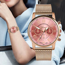 Women Quartz Sports Watch Stainless Leather Band Business Wrist Watches