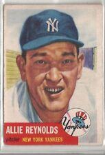 1953 Topps #141 ALLIE REYNOLDS Original Baseball Card