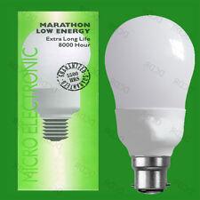 10x 15W B22 Basse Energie CFL GLS Ampoule,Extra Longue Vie Lampes 2700K
