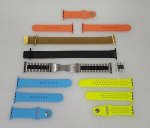 Apple Watch Assorted Bands Aluminum, Resin, Stainless Steel 42mm - Very Nice!