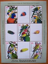 2005 AUSTRALIAN STAMP SHEET 25TH ANNIVERSARY OF AUSTRALIAN PARROTS