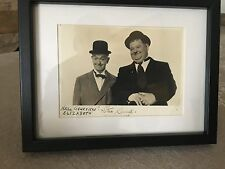 STAN LAUREL & OLIVER HARDY  AUTOGRAPHE STAN LAUREL18X33CM PHOTO + CADRE