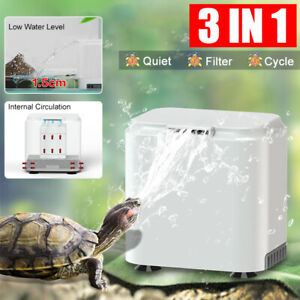 3 IN 1 Turtle Tank Internal Filter Low Water Level Circulatory Canister Filter